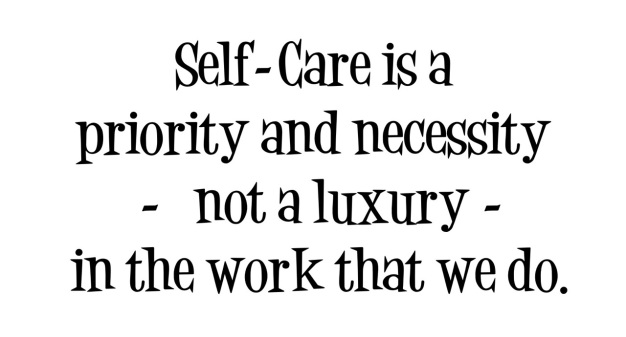 Self care is